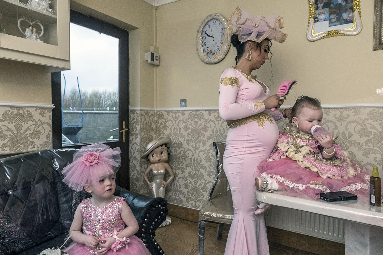 Santanna getting girls ready for wedding, Galway, Ireland 2019