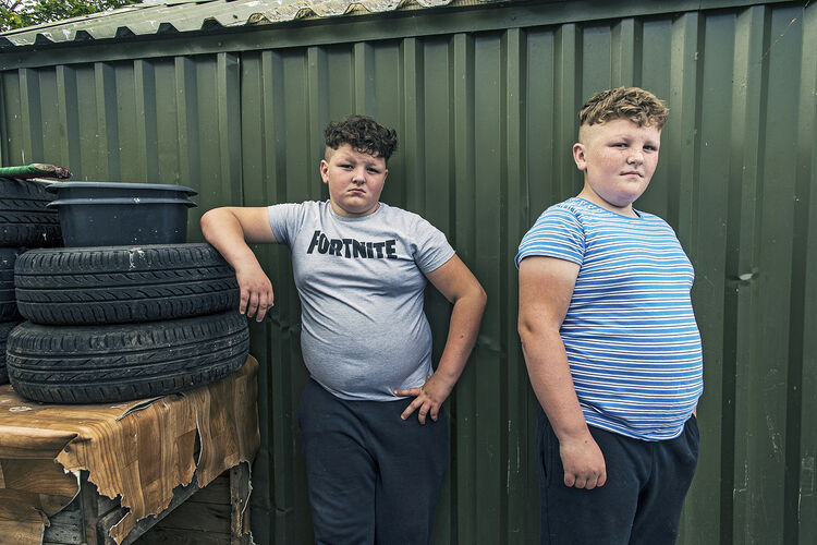 Timmy-Lee and Johnny, Fraternal Twins, Limerick, Ireland 2019