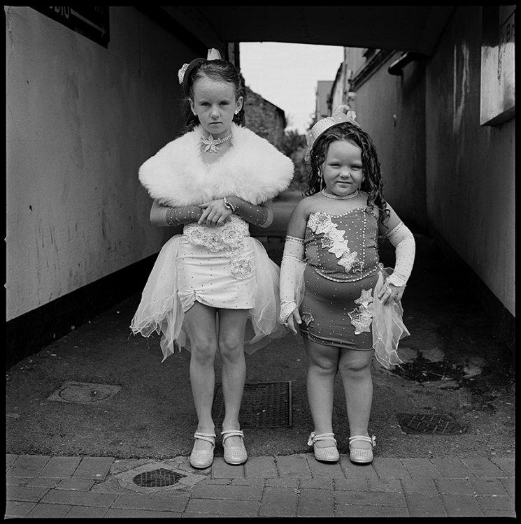 Girls in Costume at The Fair, Ballinasloe, Galway, Ireland 2013