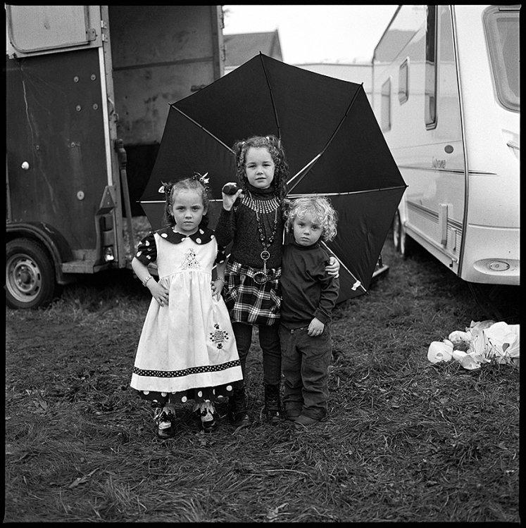 Children with Umbrella, Ballinasloe, Galway, Ireland 2011