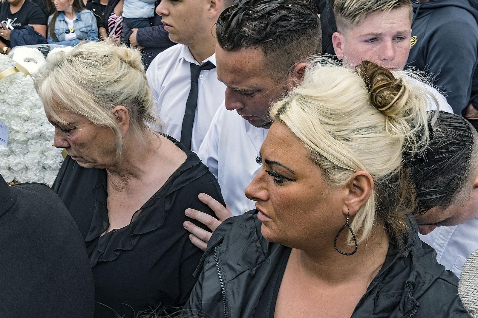 Widow comforted by Nephew, Limerick, Ireland 2019