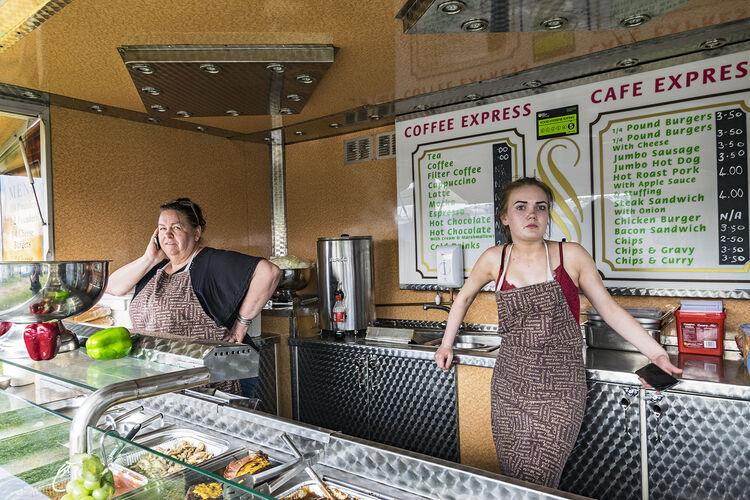 Women at Canteen, Appleby, UK 2018