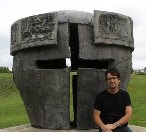 Darren Baker at the Lewes Monument where Simon de Montfort defeated the numerically superior forces of Henry III, Prince Edward and Richard, Earl of Cornwall