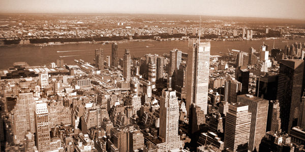 Out over New York