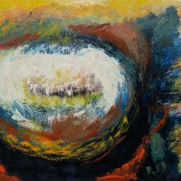 Phenomenology of paint 145 x 100 cm