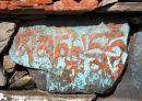 Turquoise and Orange Mani Stone, Manaslu