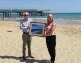 Presenting my paintings to Boscombe & Southbourne Rotary Club