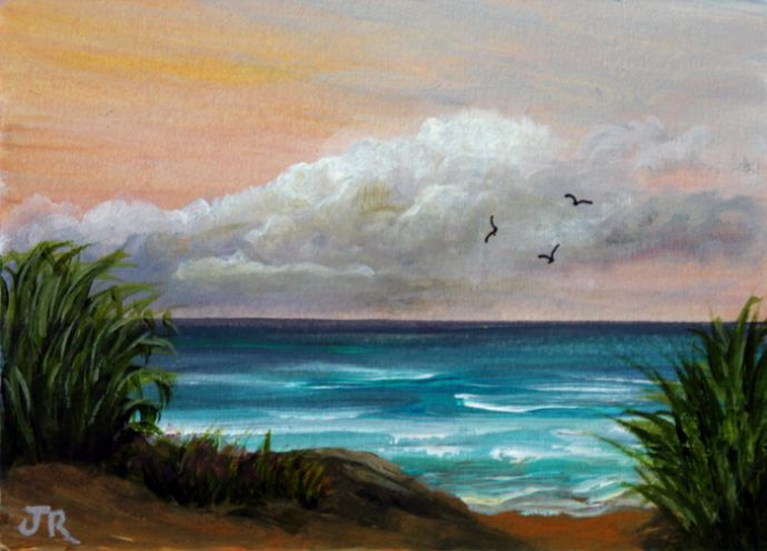 A Day at the Beach **Sold**
