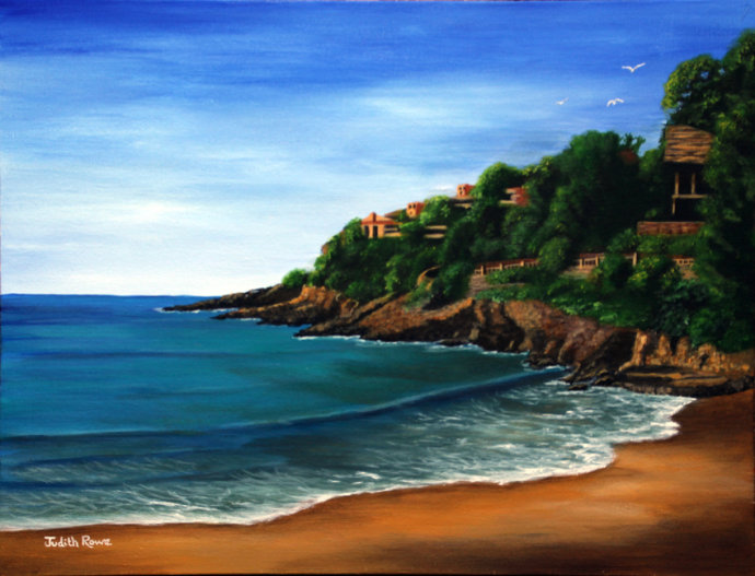 Beach in Majorca - COMMISSION: SOLD