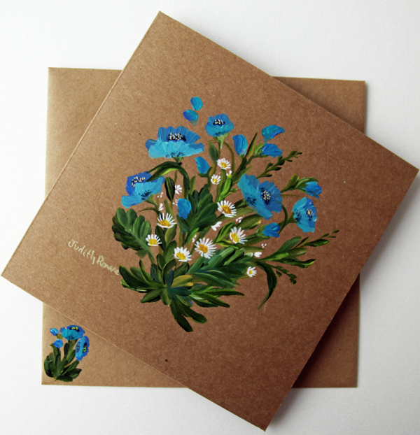 BLUE POPPIES AND DAISIES