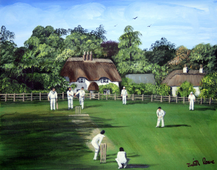 Cricket at Swan Green Lyndhurst - SOLD