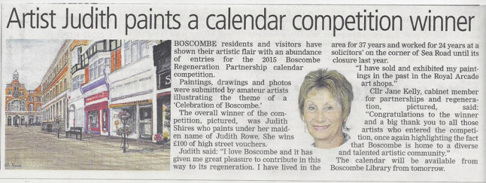 Overall Winner of Calendar Competition!<br>Article in the Echo
