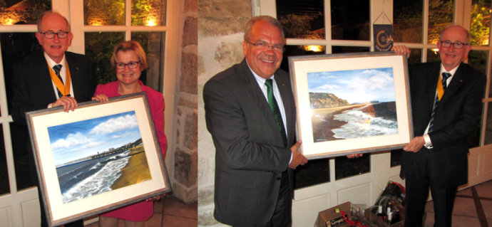 Extract from Rotary Newsletter - Presentation of my Paintings to Rotary Clubs of Ciney and Chateaudun