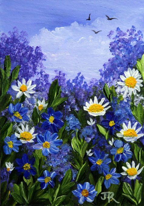 Forget-Me-Nots and Daisies **Sold**