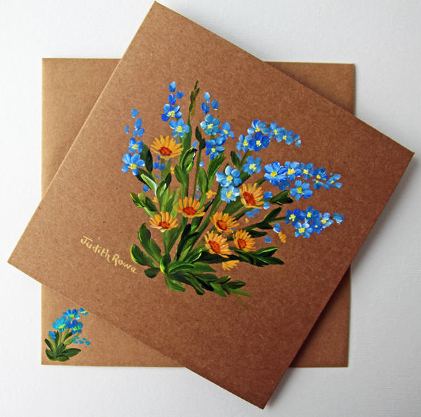 FORGET-ME-NOTS AN MARIGOLDS