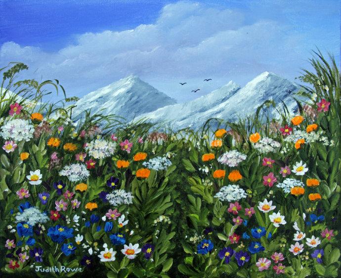 Alpine Flowers: SOLD