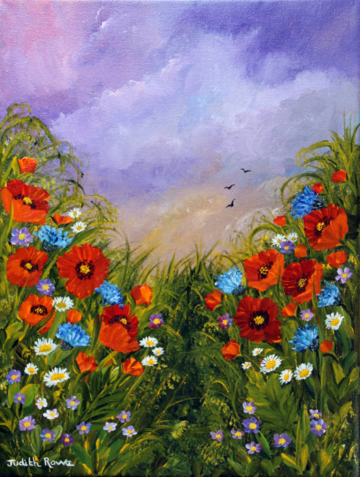 Poppies and Cornflowers *SOLD*