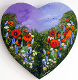 Heart Poppies and Wild Hyacinth: *SOLD*