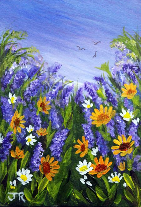 Lavender and Marigolds **Sold**