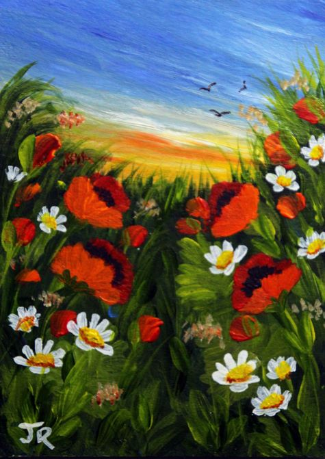 Poppies in the Sunset **Sold**