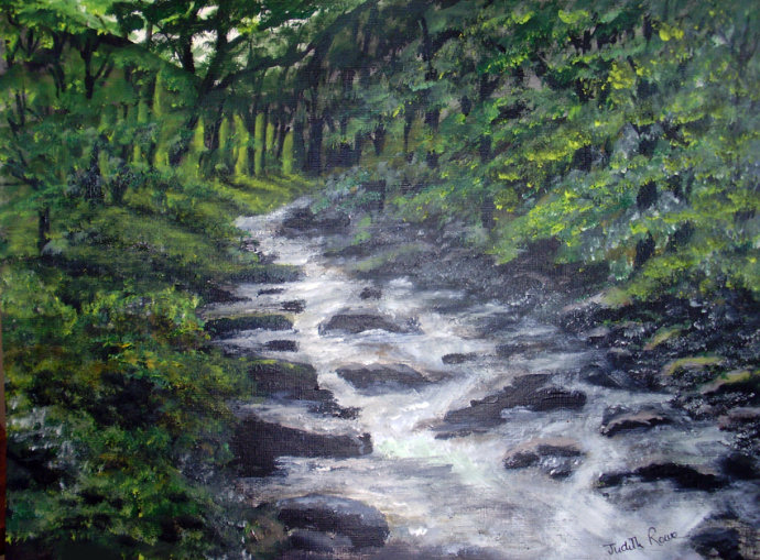 White Water at River Lyn - SOLD (COMMISSION)