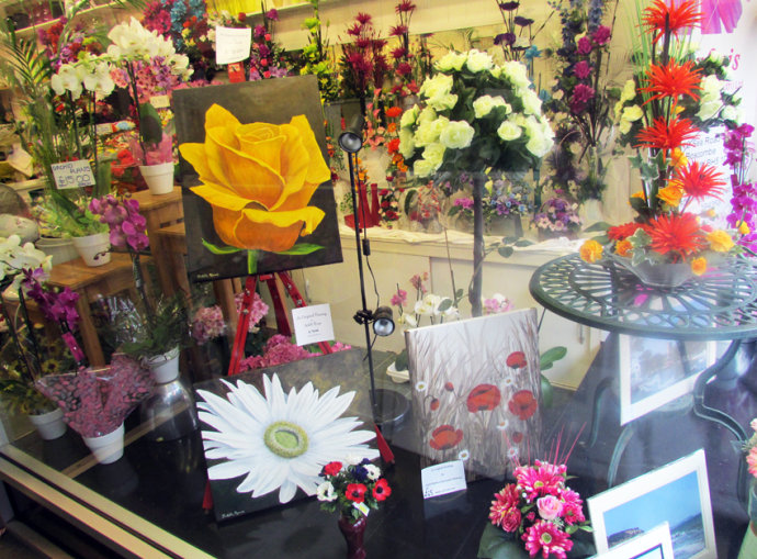 My Art on display and for sale at Simonis Florists