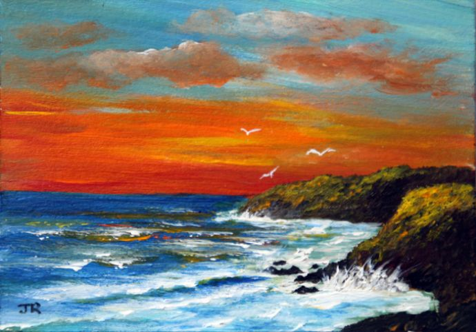 Sunset over the bay **Sold**