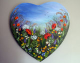 Wild Flowers with Love (Heart) **SOLD**