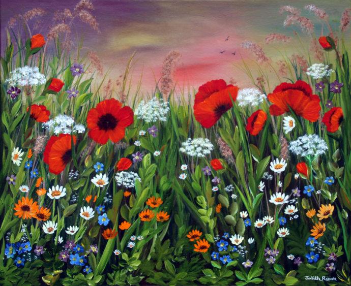 Wild Poppy Meadow: **SOLD**