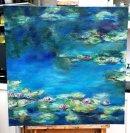 100x100cm, inspired by Monet