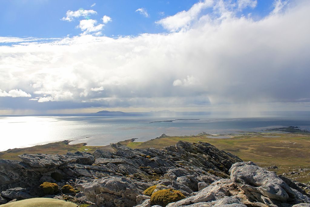 Showers and sunshine at Carcass Island