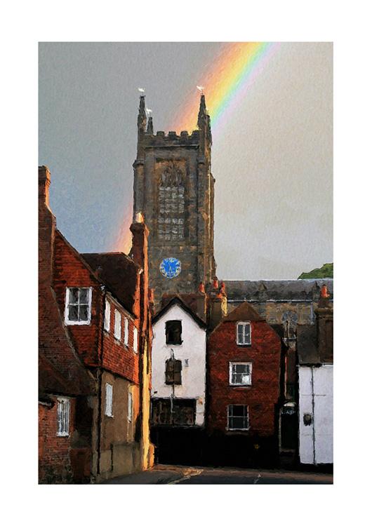 Rainbow Over Church