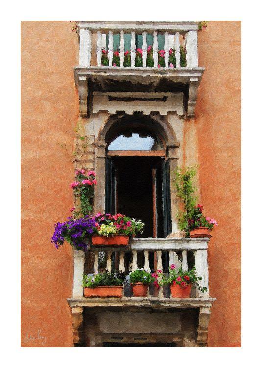 Venice Window Flowers