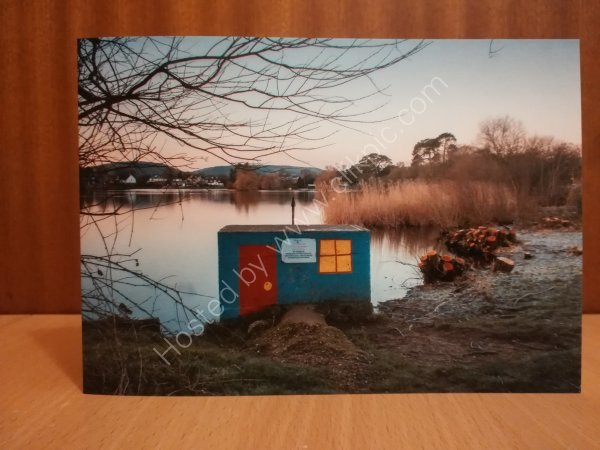 Little house on the pond greeting card