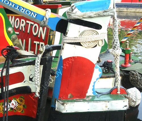 painted narrowboat butty