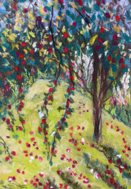 CRAB APPLE TREE AUTUMN - PASTEL