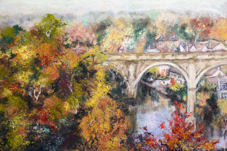 AUTUMN TIME IN KNARESBOROUGH  PASTEL