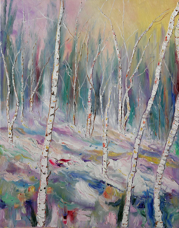 """ THE COLOURS OF WINTER "" - SILVER BIRCH"