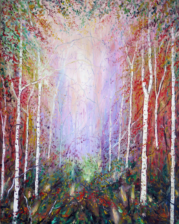 THE GLOWING FOREST  OIL