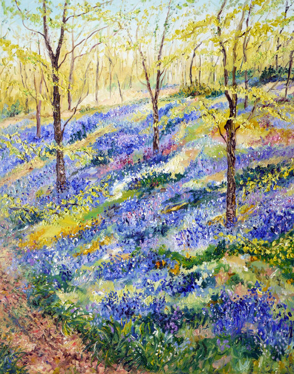 """THROUGH THE BLUEBELLS"" OIL"