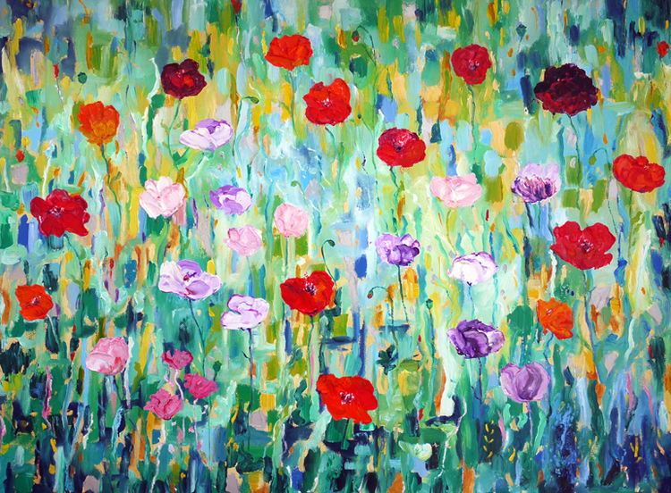 """ POPPIES""  OIL"