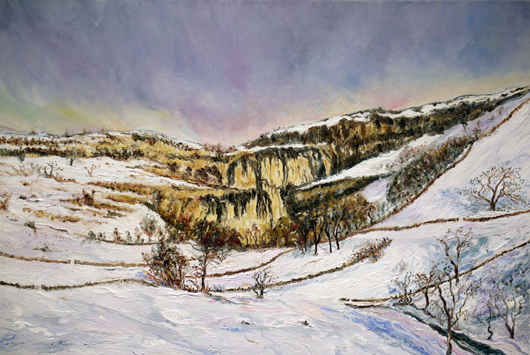 WINTER AT MALHAM COVE