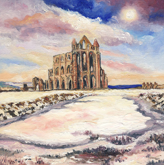 WINTER TIME AT WHITBY ABBEY