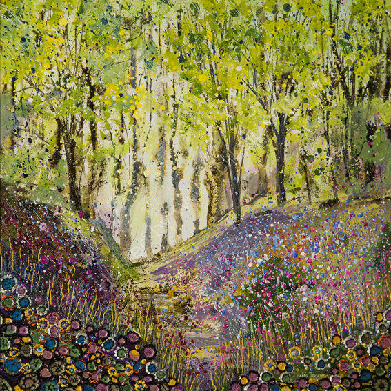 """Bluebells at Mottistone Woods - 16"""" x 16""""  - SQUARE PRINT AVAILABLE"""