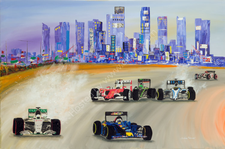 "The Singapore Grand Prix - PRINT AVAILABLE- 36"" x 24"", £645"
