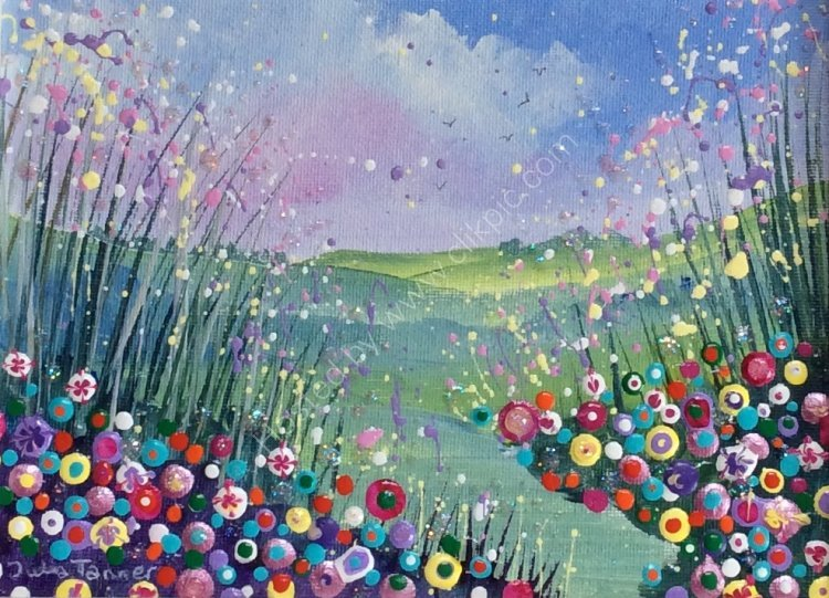 "A Meadow of Flowers lX - 8"" x 6"""