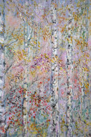 SILVER BIRCH FOREST WITH BERRIES -  OIL