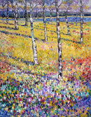 SILVER BIRCH WITH FLOWERS 11