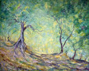 THROUGH THE OLIVE GROVE  - OIL