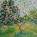 Apple Orchard in Spring oil